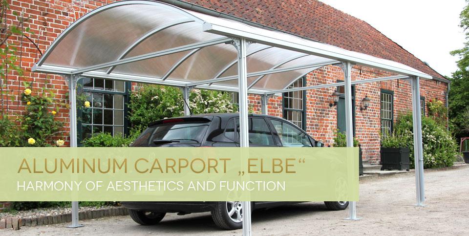 "Aluminium-Carport ""Elbe"""