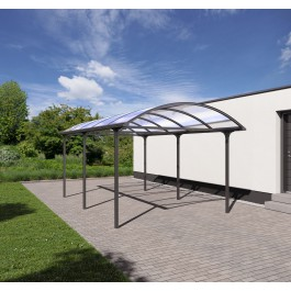 Carport Elbe - anthrazit-grau (DB 703)